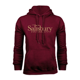 Maroon Fleece Hoodie-Salisbury University