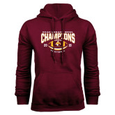 Maroon Fleece Hoodie-ECAC Legacy Bowl Champions Football 2016