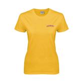 Ladies Gold T Shirt-Arched Salisbury University