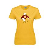 Ladies Gold T Shirt-Sammy the Sea Gull