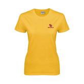 Ladies Gold T Shirt-SU Sea Gulls