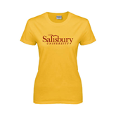 Ladies Gold T Shirt-Salisbury University