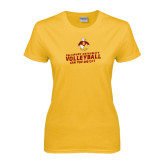 Ladies Gold T Shirt-Can You Dig It
