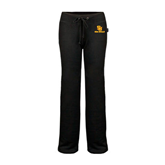 ENZA Ladies Black Fleece Pant-SU Sea Gulls