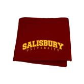 Maroon Sweatshirt Blanket-Arched Salisbury University
