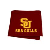 Maroon Sweatshirt Blanket-SU Sea Gulls