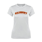 Ladies Syntrel Performance White Tee-Arched Salisbury University