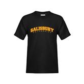 Youth Black T Shirt-Arched Salisbury University
