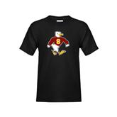 Youth Black T Shirt-Sammy the Sea Gull