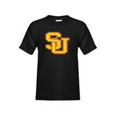 Youth Black T Shirt-SU