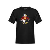 Youth Black T Shirt-Sammy the Sea Gull Distressed