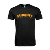 Next Level SoftStyle Black T Shirt-Arched Salisbury University