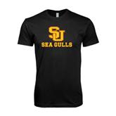 Next Level SoftStyle Black T Shirt-SU Sea Gulls