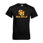 Black T Shirt-SU Sea Gulls