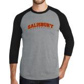 Grey/Black Tri Blend Baseball Raglan-Arched Salisbury University