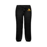 ENZA Ladies Black Banded Fleece Capri-SU Sea Gulls