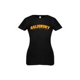 Next Level Girls Black Fashion Fit T Shirt-Arched Salisbury University