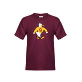 Youth Maroon T Shirt-Sammy the Sea Gull