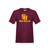 Youth Maroon T Shirt-SU Sea Gulls