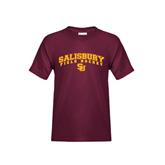 Youth Maroon T Shirt-Field Hockey