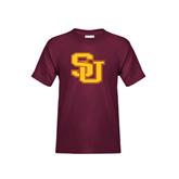 Youth Maroon T Shirt-SU