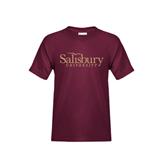 Youth Maroon T Shirt-Salisbury University