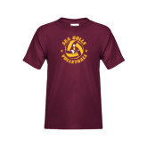 Youth Maroon T Shirt-Volleyball Design