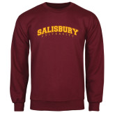 Maroon Fleece Crew-Arched Salisbury University