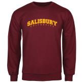 Maroon Fleece Crew-Arched Salisbury University