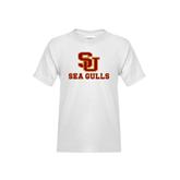 Youth White T Shirt-SU Sea Gulls