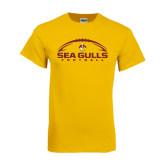 Gold T Shirt-Sea Gulls Football Horizontal w/ Ball