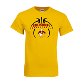 Gold T Shirt-Graphics in Basketball