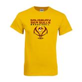 Gold T Shirt-Graphics on Basketball