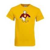 Gold T Shirt-Sammy the Sea Gull Distressed
