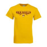 Gold T Shirt-Sea Gulls Football Flat