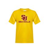 Youth Gold T Shirt-SU Sea Gulls