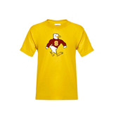 Youth Gold T Shirt-Sammy the Sea Gull Distressed