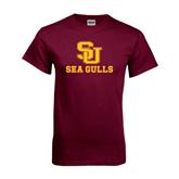 Maroon T Shirt-SU Sea Gulls