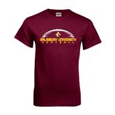 Maroon T Shirt-Flat Football Design
