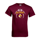 Maroon T Shirt-Graphics in Basketball