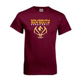 Maroon T Shirt-Graphics on Basketball