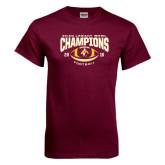 Maroon T Shirt-ECAC Legacy Bowl Champions Football 2016