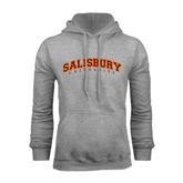 Grey Fleece Hoodie-Arched Salisbury University