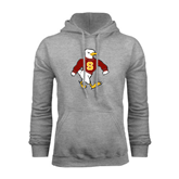 Grey Fleece Hoodie-Sammy the Sea Gull