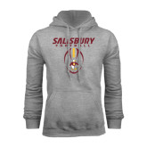 Grey Fleece Hoodie-Salisbury Football Stacked w/ Ball