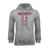 Grey Fleece Hoodie-Salisbury Football Stacked w/ Ball
