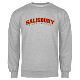 Grey Fleece Crew-Arched Salisbury University