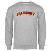 Grey Fleece Crew-Arched Salisbury University