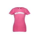 Next Level Girls Fuchsia Fashion Fit T Shirt-Arched Salisbury University