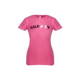 Next Level Girls Fuchsia Fashion Fit T Shirt-Arched Salisbury University Foil